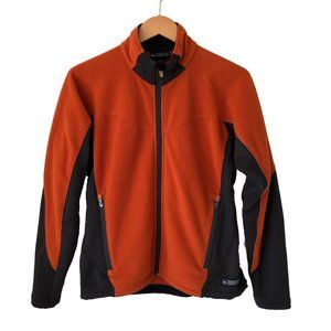 REI Polartec Fleece Jacket Full Zip Orange Black